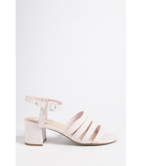 Incaltaminte Femei Forever21 Faux Suede Block Heel Sandals PINK