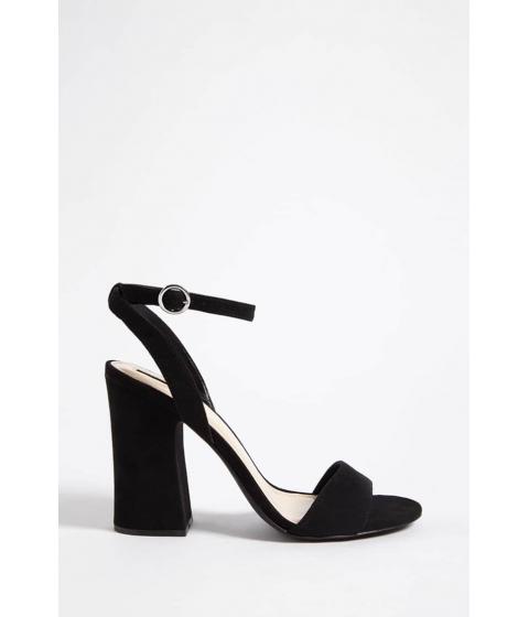 Incaltaminte Femei Forever21 Faux Suede Ankle-Strap Heels BLACK