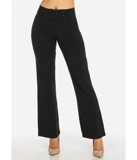 Imbracaminte Femei CheapChic Evening Wear Black High Waisted 2-Button Straight Leg Pants Multicolor