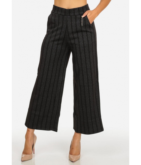 Imbracaminte Femei CheapChic Elegant High Rise Black and Charcoal 2-Pocket Cropped Pants Multicolor