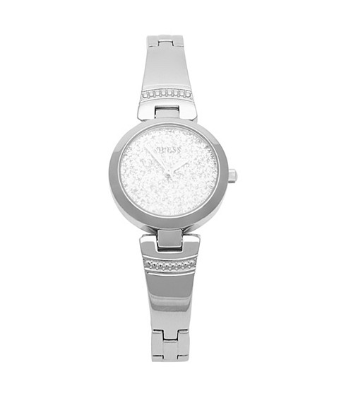 Ceasuri Femei GUESS Silver-Tone and Glitter Watch silver