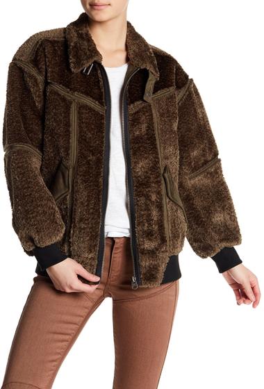 Imbracaminte Femei G-STAR RAW Deline Faux Fur Lined Bomber Jacket DK GREEN-DK GREEN
