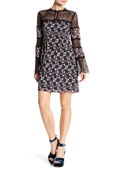 Imbracaminte Femei Nanette Lepore Silk Floral Frock Dress BLACK