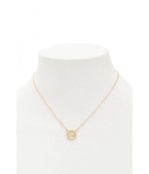 Bijuterii Femei Forever21 Circular Love Charm Necklace GOLD