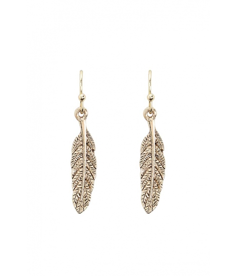 Bijuterii Femei Forever21 Feather Drop Earrings ANTIQUE GOLD