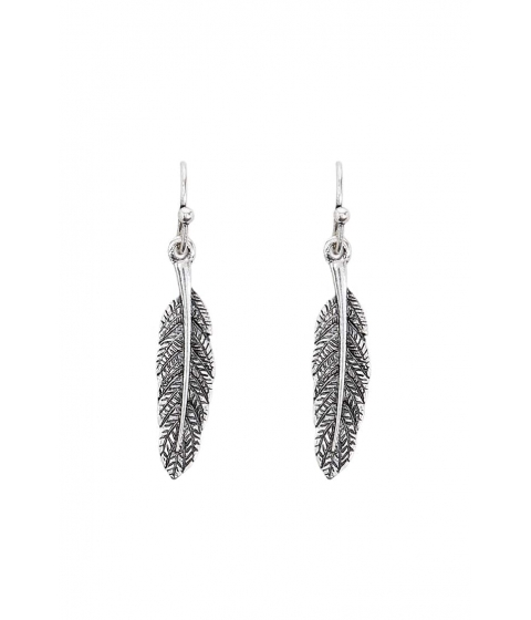 Bijuterii Femei Forever21 Feather Drop Earrings BSilver