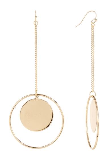 Bijuterii Femei Natasha Accessories Drop Front Facing Hoop Earrings GOLD