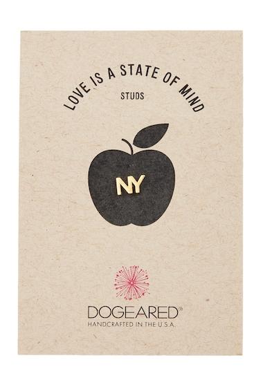 Bijuterii Femei Dogeared Love Is A State of Mind NY Single Stud Earring GOLD