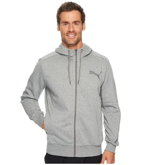 Imbracaminte Barbati PUMA P48 Core Full Zip Hoodie Medium Gray Heather