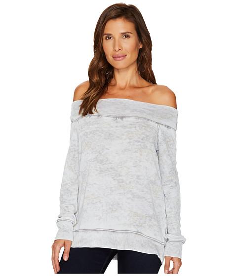 Imbracaminte Femei Allen Allen Camo Long Sleeve Off the Shoulder Pale Grey