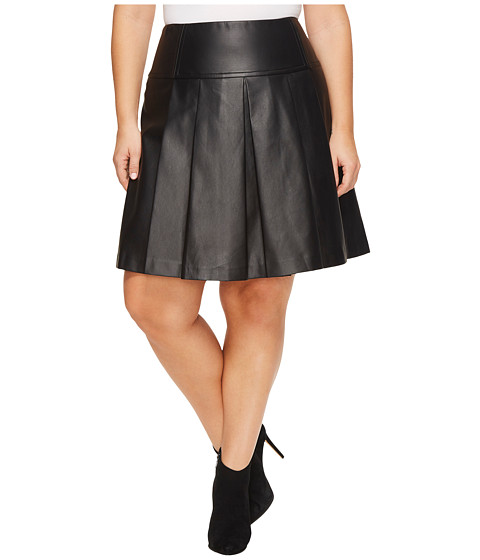 Imbracaminte Femei Michael Kors Plus Size Fit and Flare Pleat Skirt Black