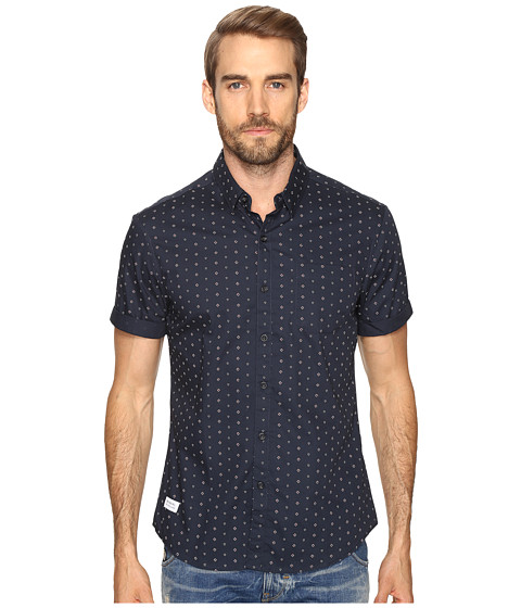 Imbracaminte Barbati 7 Diamonds Downtown Short Sleeve Shirt Navy