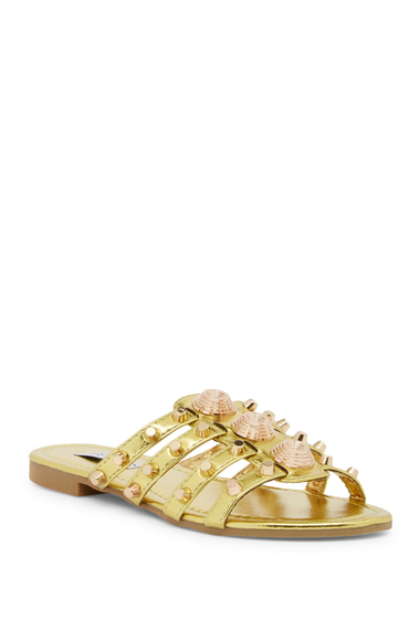 Incaltaminte Femei Cape Robbin Vintage Studded Slide Sandal OLIVE