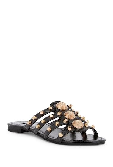 Incaltaminte Femei Cape Robbin Vintage Studded Slide Sandal BLACK