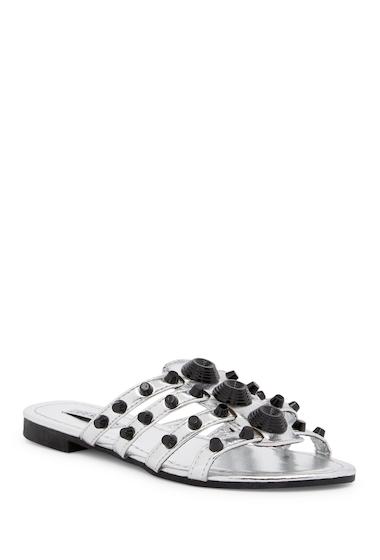 Incaltaminte Femei Cape Robbin Vintage Studded Slide Sandal SILVER