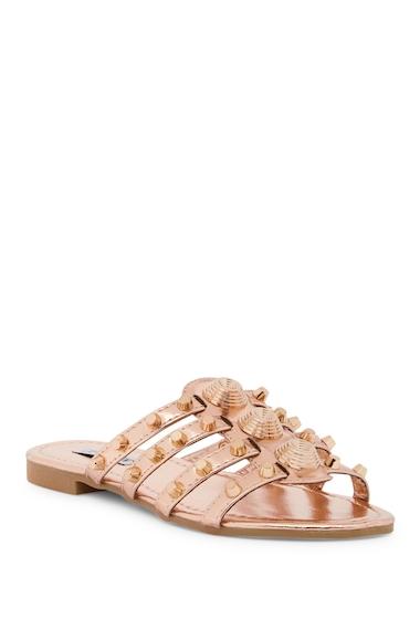 Incaltaminte Femei Cape Robbin Vintage Studded Slide Sandal ROSE GOLD