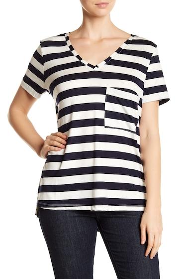 Imbracaminte Femei Tart Belita Striped V-Neck Tee OFFWHITEBLACK2 STRIPE