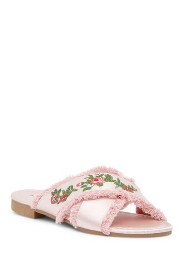Incaltaminte Femei Cape Robbin Coma Embroidered Sandal PINK