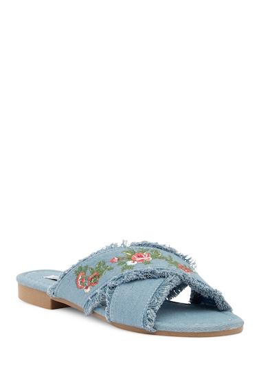 Incaltaminte Femei Cape Robbin Coma Embroidered Sandal DENIM