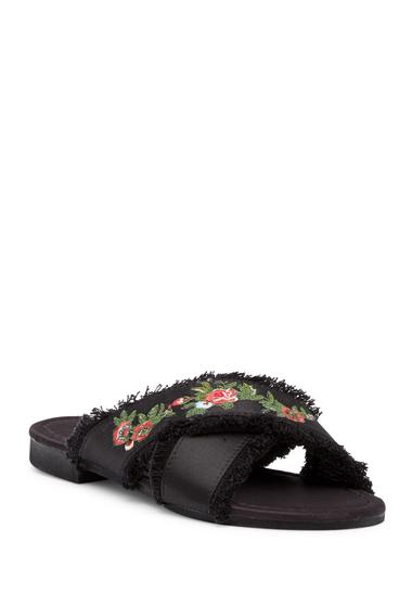 Incaltaminte Femei Cape Robbin Coma Embroidered Sandal BLACK