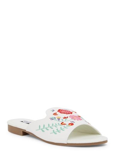 Incaltaminte Femei Cape Robbin Emily Embroidered Sandal WHITE