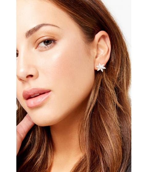 Bijuterii Femei Forever21 Floral CZ Stud Earrings GOLDCLEAR