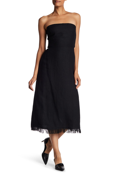 Imbracaminte Femei Theory Phyly Linen Drap Dress BLACK