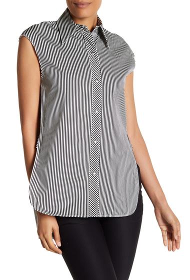 Imbracaminte Femei Helmut Lang Striped Sleeveless Shirt BLACK MULTI