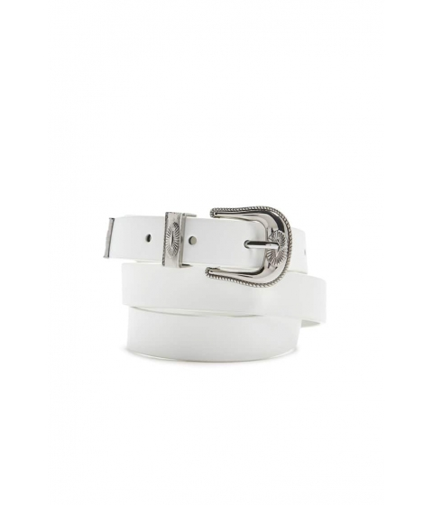 Accesorii Femei Forever21 Old Western Faux Leather Belt WHITE