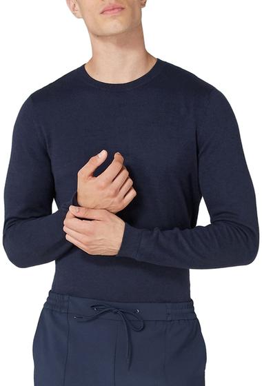 Imbracaminte Barbati TOPMAN Side Ribbed Slim Fit Sweater BLUE