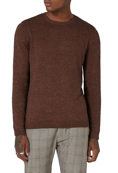 Imbracaminte Barbati TOPMAN Side Ribbed Slim Fit Sweater BROWN