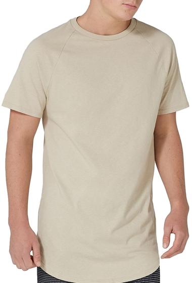 Imbracaminte Barbati TOPMAN Side Zip Longline T-Shirt STONE