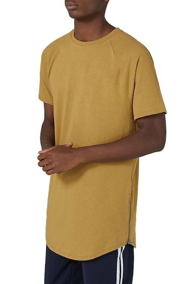 Imbracaminte Barbati TOPMAN Side Zip Longline T-Shirt YELLOW