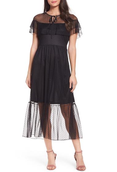 Imbracaminte Femei NSR Lace Midi Dress BLACK