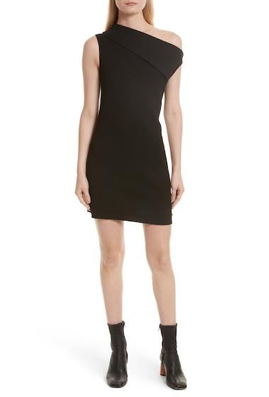 Imbracaminte Femei Helmut Lang Asymmetric Wool Blend Scuba Minidress BLACK