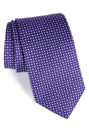 Accesorii Barbati Eton Neat Dot Silk Tie PURPLE
