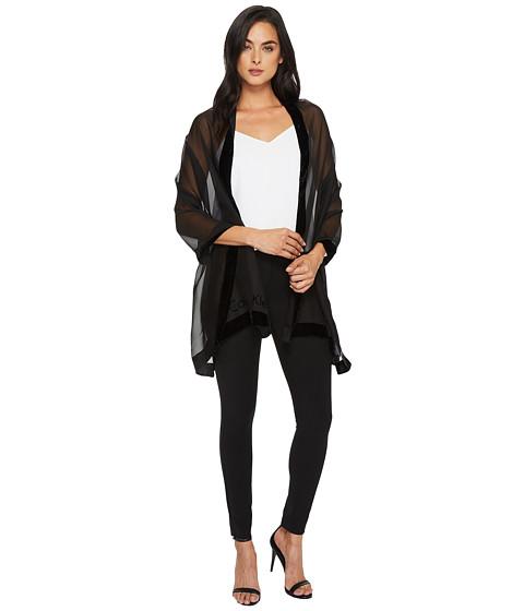 Accesorii Femei Calvin Klein Velvet Border Burnout Black
