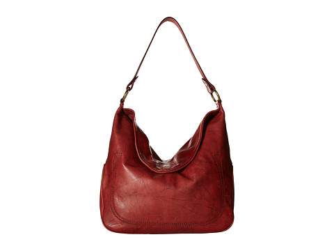 Genti Femei Frye Campus Large Rivet Hobo Burnt Red Dakota