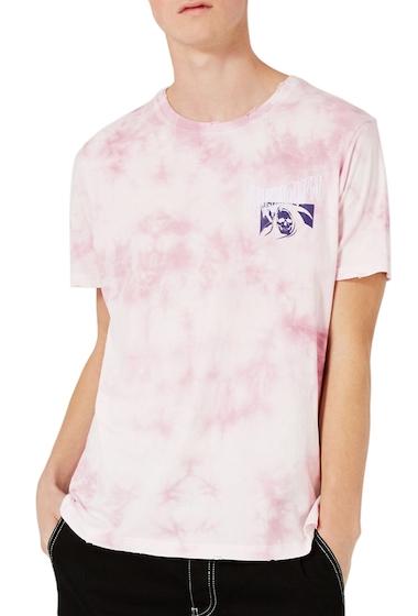 Imbracaminte Barbati TOPMAN Oversize Unknown Graphic T-Shirt PINK