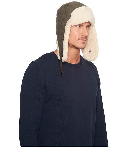 Accesorii Barbati UGG Wool Trapper w Fur Trim Spruce Heather
