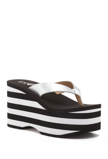 Incaltaminte Femei Rocket Dog Paradise Striped Platform Sandals SILVER