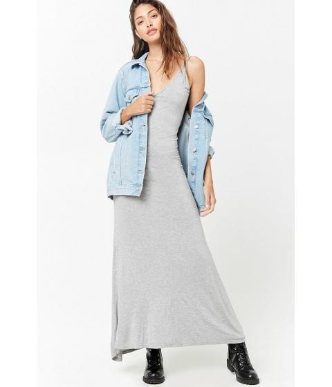 Imbracaminte Femei Forever21 Marled V-Neck Cami Maxi Dress HEATHER GREY