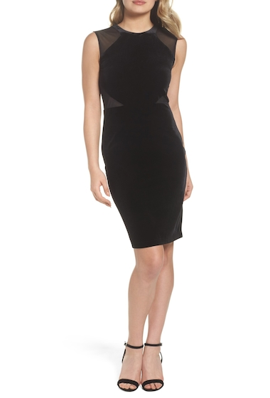 Imbracaminte Femei French Connection Viven Velvet Body-Con Dress BLACKBLAC