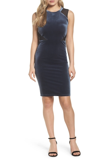 Imbracaminte Femei French Connection Viven Velvet Body-Con Dress NCTRNLBLK