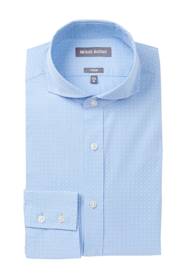 Imbracaminte Barbati MICHAEL BASTIAN Foulard Print Trim Fit Dress Shirt BLUE