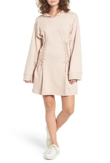 Imbracaminte Femei BP Corset Hoodie Sweatshirt Dress TAN MEMOIR