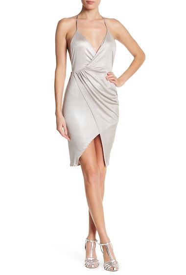 Imbracaminte Femei Lush Overlap Shiny Party Dress CHAMPAGNE