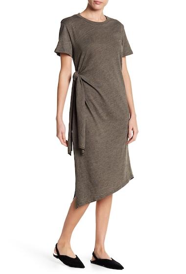 Imbracaminte Femei Lush Asymmetrical Side Tie Knit Midi Dress OLIVE