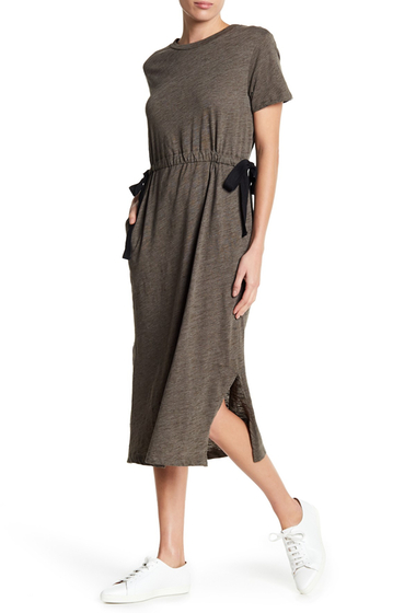 Imbracaminte Femei Lush Side Tie Knit Dress OLIVE