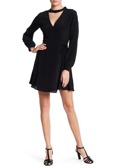 Imbracaminte Femei Lush Mock Neck Long Sleeve Wrap Dress BLACK